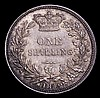 Shilling 1842 as ESC 1288, 4 of date points to a border bead, UNC or very near so with minor cabinet friction and a couple of small rim nicks