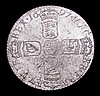 Sixpence 1697 Third Bust, Later Harp, Large Crowns ESC 1566 GEF with some haymarking