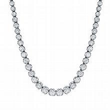 Elegant 19.06 TCW Diamond Necklace