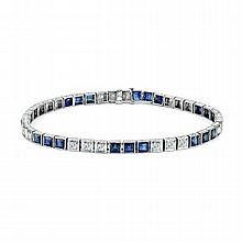 5447.96ct Diamond and Sapphire Bracelet