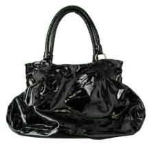 Salvatore Ferragamo Black Patent Leather Bag/Purse
