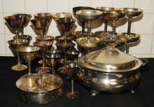29pc Silver Plated Dishware