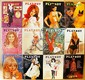 Vintage 1968 Playboy Magazines (12 Issues)