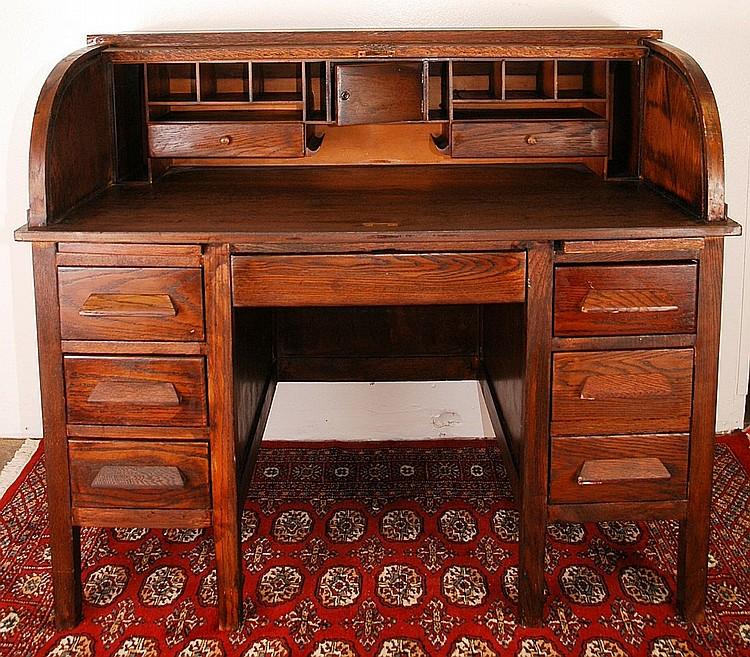 Antique Roll Top Desk Circa 1900's