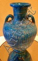 Ancient Egyptian Lion Headed Goddess Blue Vessel 18th - 19th Century