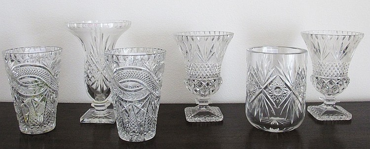 6pc Cut Glass tumblers