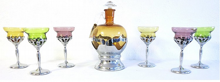 Vintage Farbeware Decanter set