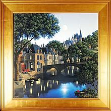 Jim Buckels, Hand Signed Serigraph on Canvas