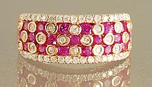 1.71CT HOT PINK RUBY & DIAMOND RING