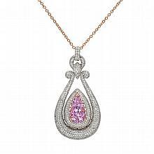26.10 Carat Diamond and Kunzite Necklace