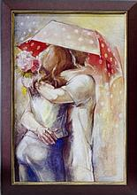 Lena Sotskova, Under Umbrella 3, Signed Giclee