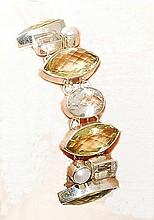 Pearl, Lemon & White Quartz  Bracelet