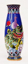 Peony and Firebird Cloisonne Vase 15