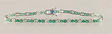 5.31ct Emerald and Diamond Bracelet in 18K WG