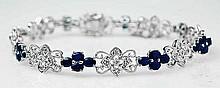 6.92ct Sapphire & 0.20ct Diamond Bracelet