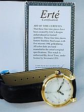 Erte SIGNATURE Art Deco Wrist Watch Brand NEW