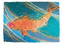 Original Japanese Koi Art on Artisan Paper