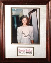 Brooke Shields, Autograph and Framed Photograph.