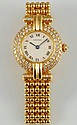 Ladies Vintage 18K and Diamond Cartier Watch
