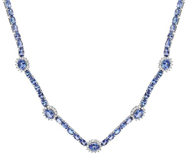 37.2 Carat Tanzanite and Diamond Necklace