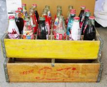 Vtg Coca Cola & Pepsi Cola Wooden Crates