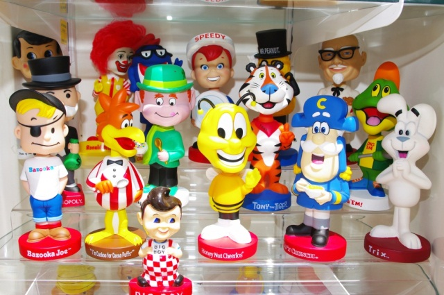 Lot - Collection of 68 Cartoon Bobbleheads