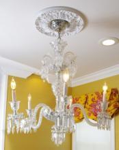 5 Light Baccarat Crystal Chandelier