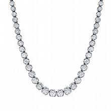 18.35ct Diamond Necklace, set in 18K