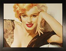 Marilyn Monroe, Oil Painting on canvas, Signed