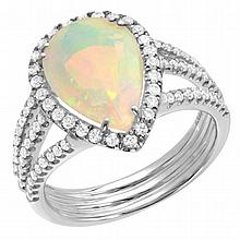 2.76 ct Opal and Diamond Ring