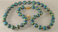 Vtg Cloisonne Beads Necklace