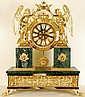 Gold Leaf Mantel Clock on Marlbe Base