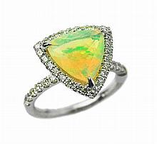 2.43ct Opal & Diamond Ring