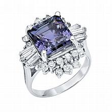 1.14ct Diamonds & 6.59ct Tanzanite Ring