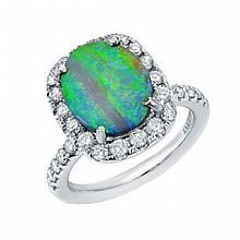 2.74 ct Opal & 1.11ct Diamond Ring