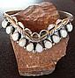 Natural Opal & Sterling Silver Navajo Bracelet by Leroy & Erma