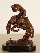 Ratlesnake Bronze Sculpture After Remington