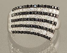 14KW BLACK DIAMOND RING
