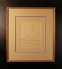Pissaro, Original Pencil Sketch Graphite on Paper