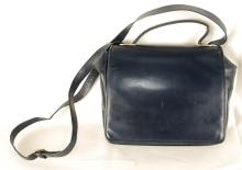 Auth Salvatore Ferragamo Shoulder Bag Leather Blue