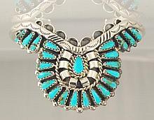 Navajo, Turquoise & Sterling Silver Bracelet Signe