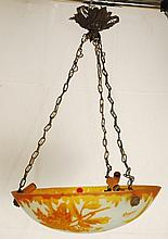 Vintage 1930's French Art Deco Chandelier by Degue