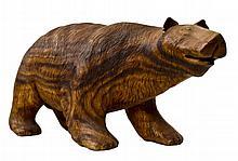 Hand Carved Wooden Bear Sculpture 13