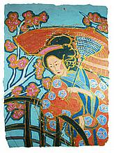 Original Japanese Geisha Art Hand Painted Signed