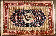 Kum Hand Made Persian Silk Pictorial Rug