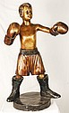 Solid Bronze Young Boy Boxer Sculpture