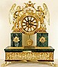 Gold Leaf Mantel Clock on Marlbe Base