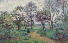 Emmanuel DE LA VILLEON (1858-1944) Sous le bosquet,1920