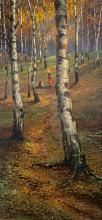 Semyon PLATONOV (1860-1925) La cueillette dans les bois