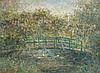 Blanche HOSCHÉDÉ-MONET (1865-1947) Passerelle sur l'étang aux nymphéas à Giverny Huile sur toile, signée en bas à gauche 60 x 81 cm Provenance: Collection particulière, Paris, France Un certificat de Claude Marumo en date du 18 mai 2001 sera, Blanche Hoschedé-Monet, €40,000